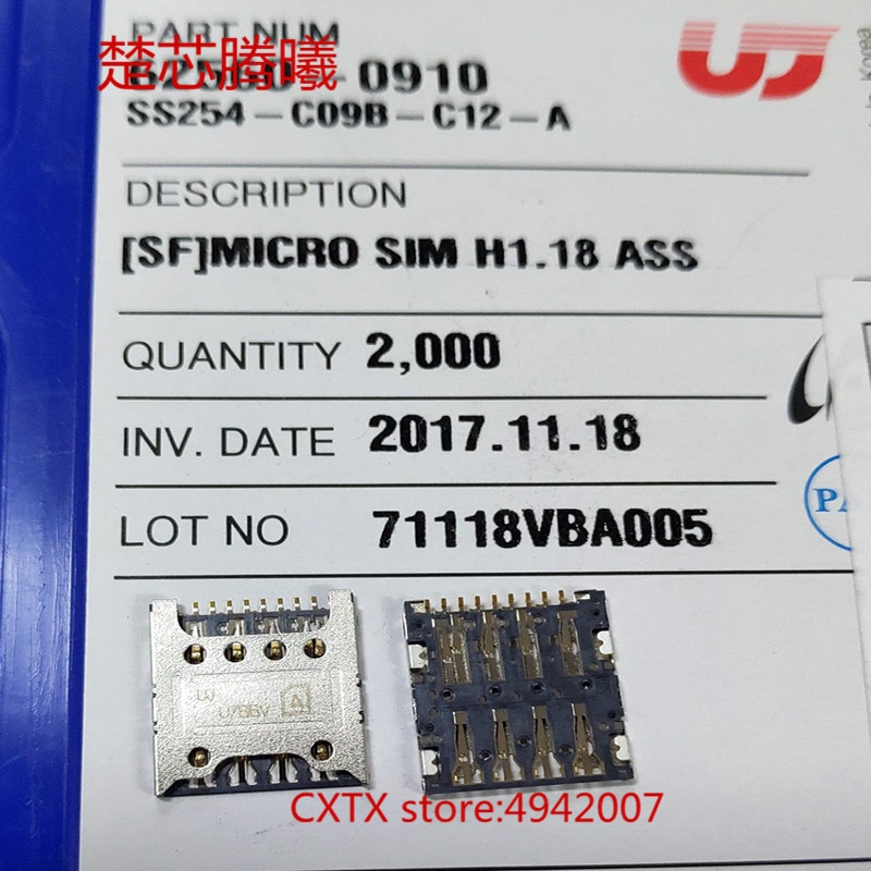 CHUXINTENGXI SS254-C09B-C12-A For HUAWEI 3C 4X 4C SD TF Card Reader Connector Socket Holder Slot NEW Original SIM SD Card Reader dower me micro sd card sim card reader holder connector for sony xperia xz2 xz3 h8216 h8266 h8276 h8296 h9493