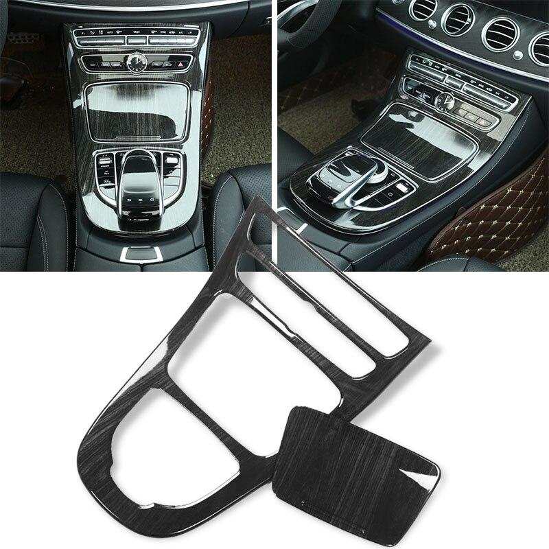 Cubiertas de Panel de caja de cambios de grano de madera para Mercedes Benz Clase E W213 16-17