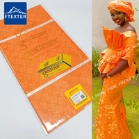 5 yards orange special price keep shiny basin riche gextcze 2021 african lace fabric for senegar bazin riche sewing material