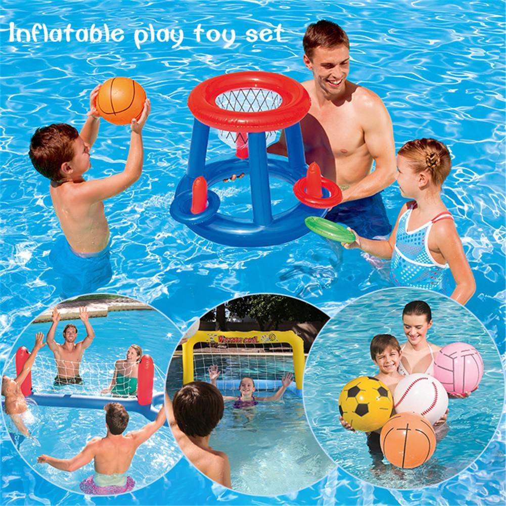 Inflable natación flotador piscina jugar juguete fútbol voleibol baloncesto agua colchón deportes juego regalos para niños