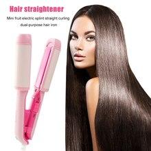 20W 220V Electric Splint Fruit Dual-Use Air Bangs Crimper Flat Iron Ceramic Hair Straightener Curler
