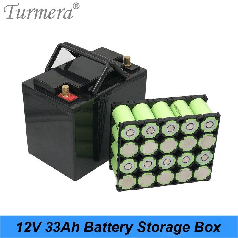Turmera 12V 33A حافظة بطاريات مربع مع 4X5 32700 Lifepo4 بطارية حامل 4S 100A التوازن BMS النيكل ل UPS أو سولور نظام استخدام