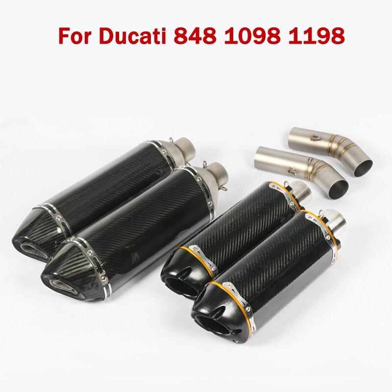 Tubo de Escape, silenciador de deflector, puntas de extremo, tubo de conexión, tubo intermedio para motocicleta Ducati 848 1098 1198