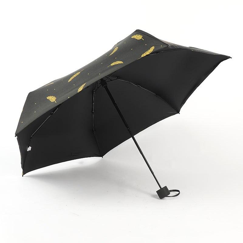 Новинка 2021, маленький Модный складной зонт, непромокаемый карманный мини-зонт для девушек с защитой от ультрафиолета, водонепроницаемый по...