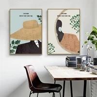 Affiches et imprimes nordiques modernes simples en Vogue  Portraits de mode  toile  peinture artistique  images murales pour salon  decoration de la maison