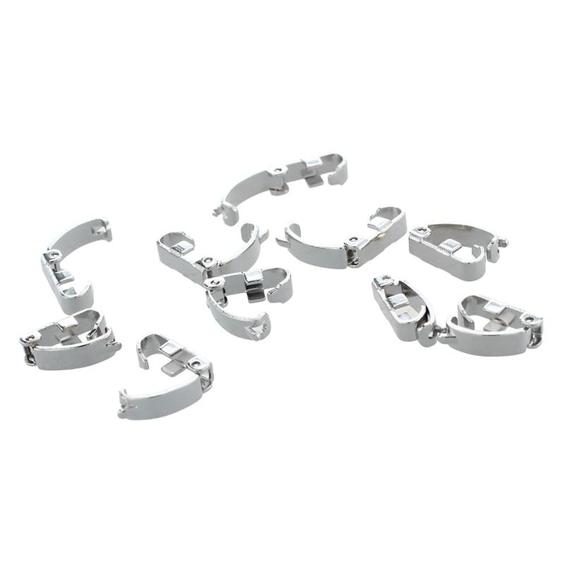 10 x stainless steel Jewelry Wrist Watch Bracelet Band Fold Over Clasps 0.4x0.1