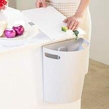 Petite poubelle à déchets suspendue   Poubelle sous lévier de cuisine, corbeille à déchets en PP au-dessus de la porte darmoire avec anneau supérieur pour fixer le sac à ordures