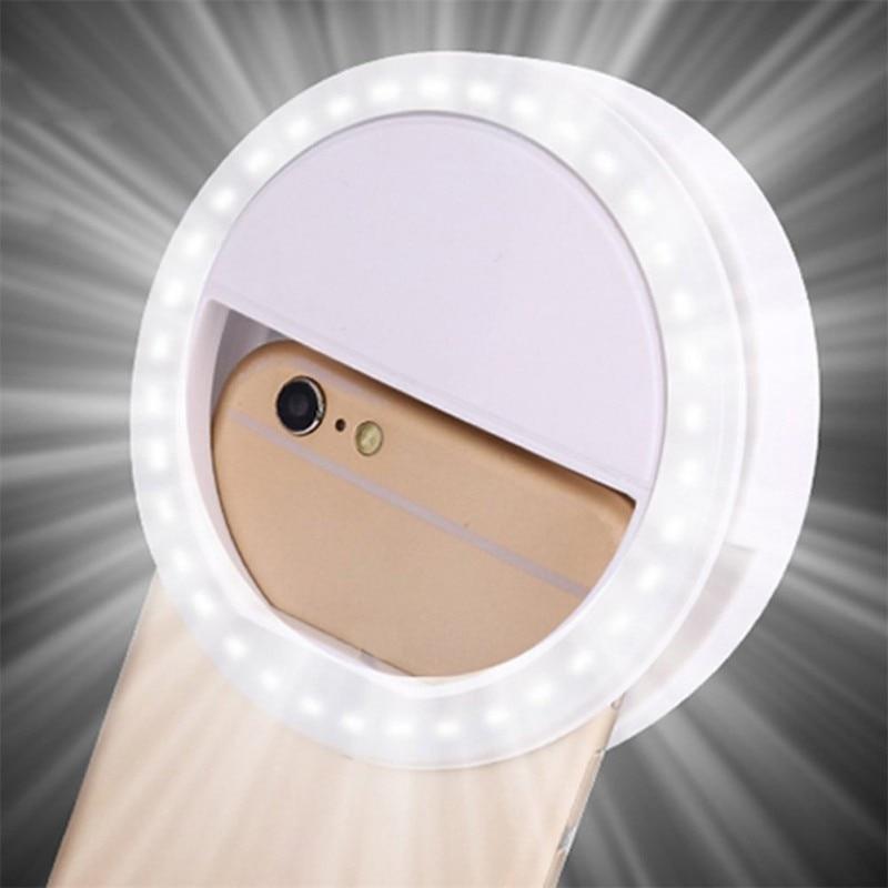 O telefone móvel portátil conduziu a lâmpada selfie universal conduziu o anel de luz flash luminos anel clipe para o telefone Iluminação Novelty    -