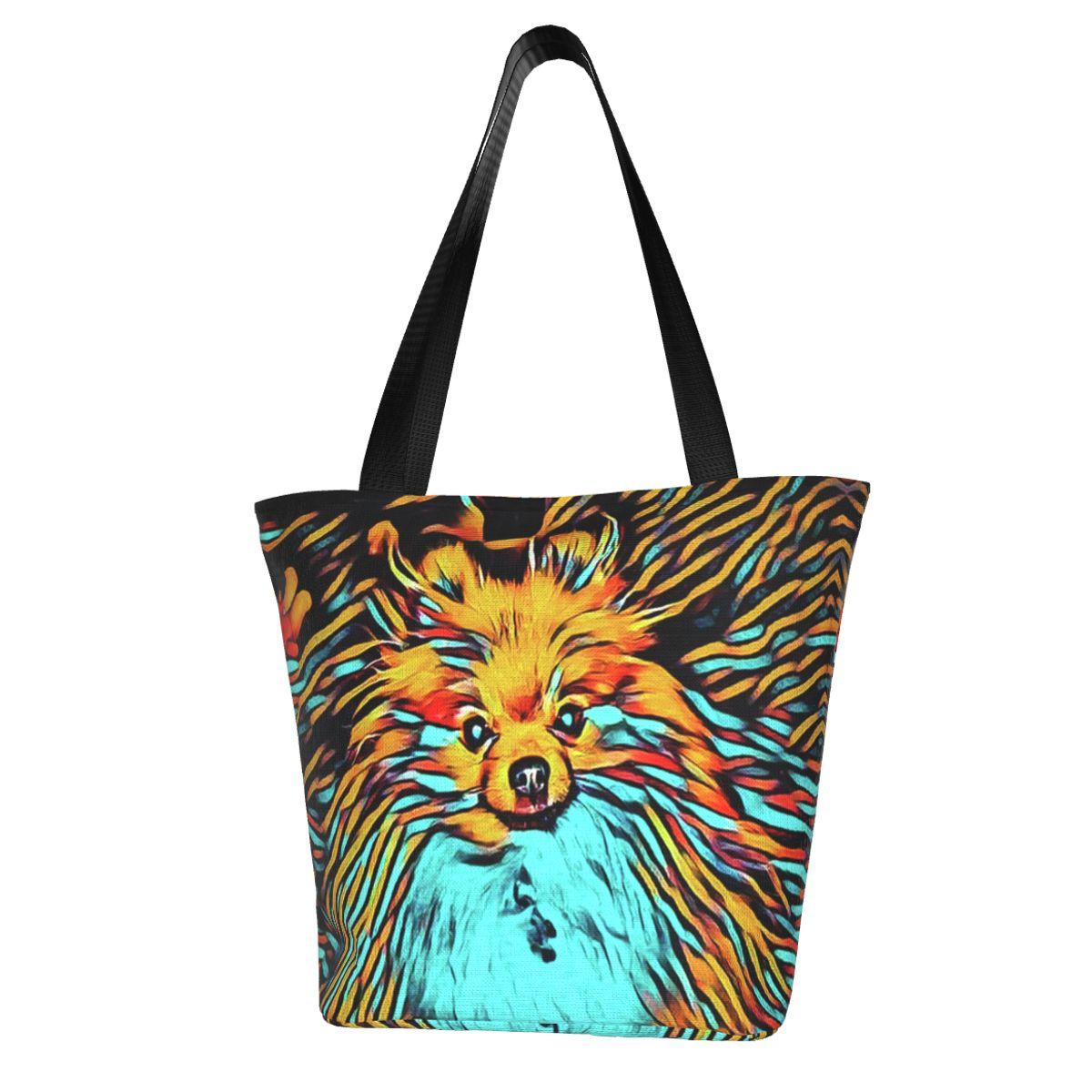 Pomeranian хозяйственная сумка оптом Эстетическая сумка полиэстер офисные студенческие сумки
