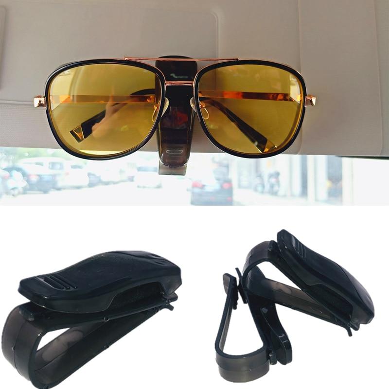 2020 hot portable car glasses clip automatic fastening car car sun visor sunglasses glasses frame glasses frame ticket holder