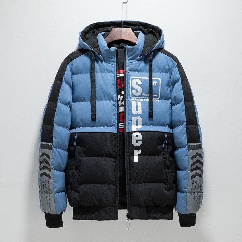 Куртка из хлопка мужская осенне-зимняя Толстая Повседневная куртка из хлопка стеганая куртка мужская Молодежная стеганая куртка