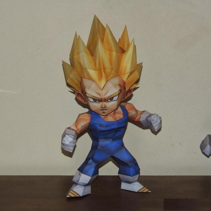 Dragon ball beta messias q versão 3d modelo de papel diy
