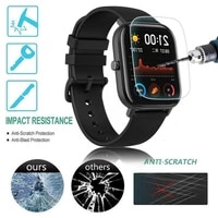 1pcs smart watch film full cover clear soft pet hd screen protector film for huami amazfit gts tempered film smart accessories