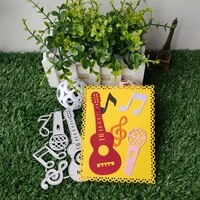 new fashion guitar musical metal cutting dies stencils for diy scrapbooking paper card decorative craft dies embossing die cuts