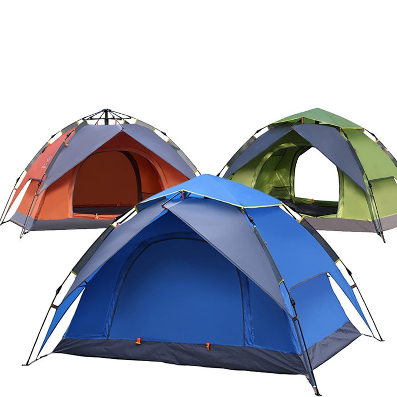 Outdoor camping tent double layer 230*160*130cm automatic speed open field rainproof camping 2 people tent