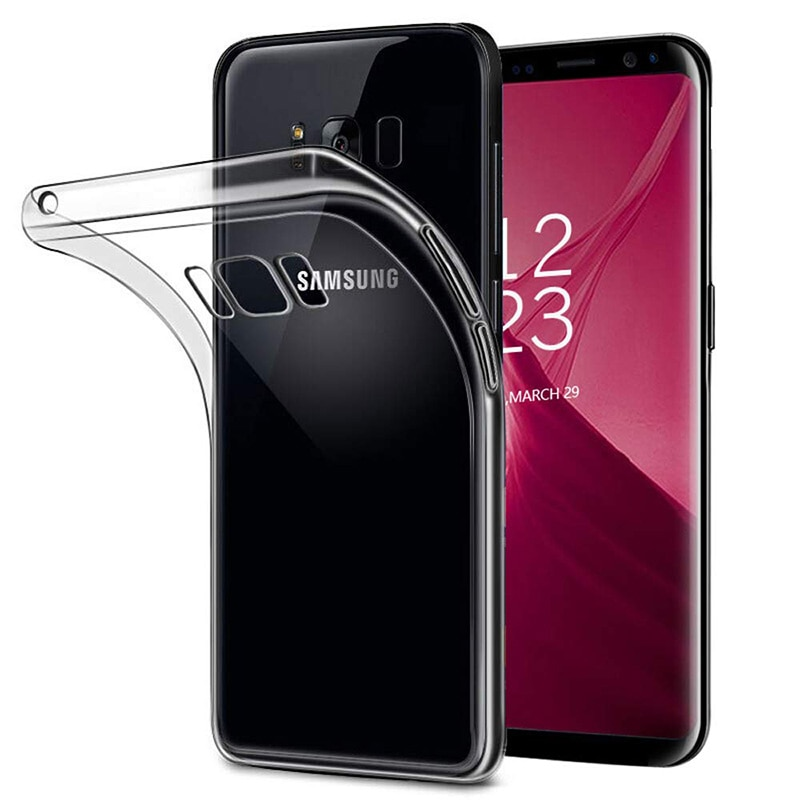 Fundas ultrafinas de silicona transparente de TPU para teléfono Samsung Galaxy S8/S8 Plus S8Plus, carcasa trasera protectora para cámara SamsungS8Plus