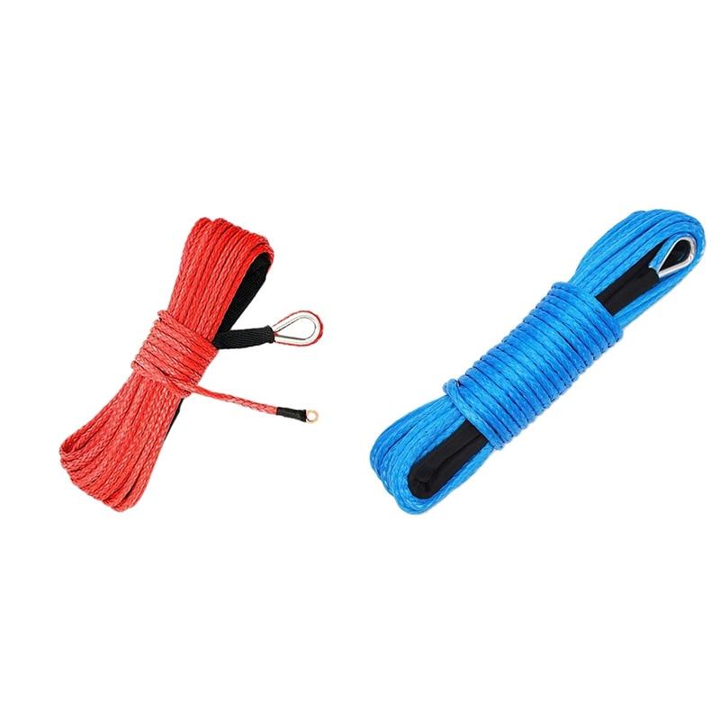 Cable de cabrestante sintético, cuerda con funda de protección para ATV UTV,...