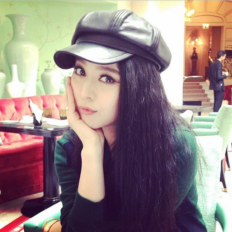 Korean Spring and Autumn Fashion Beret Baseball Cap Same Style as Fan Bingbing Octagonal Cap Men's W