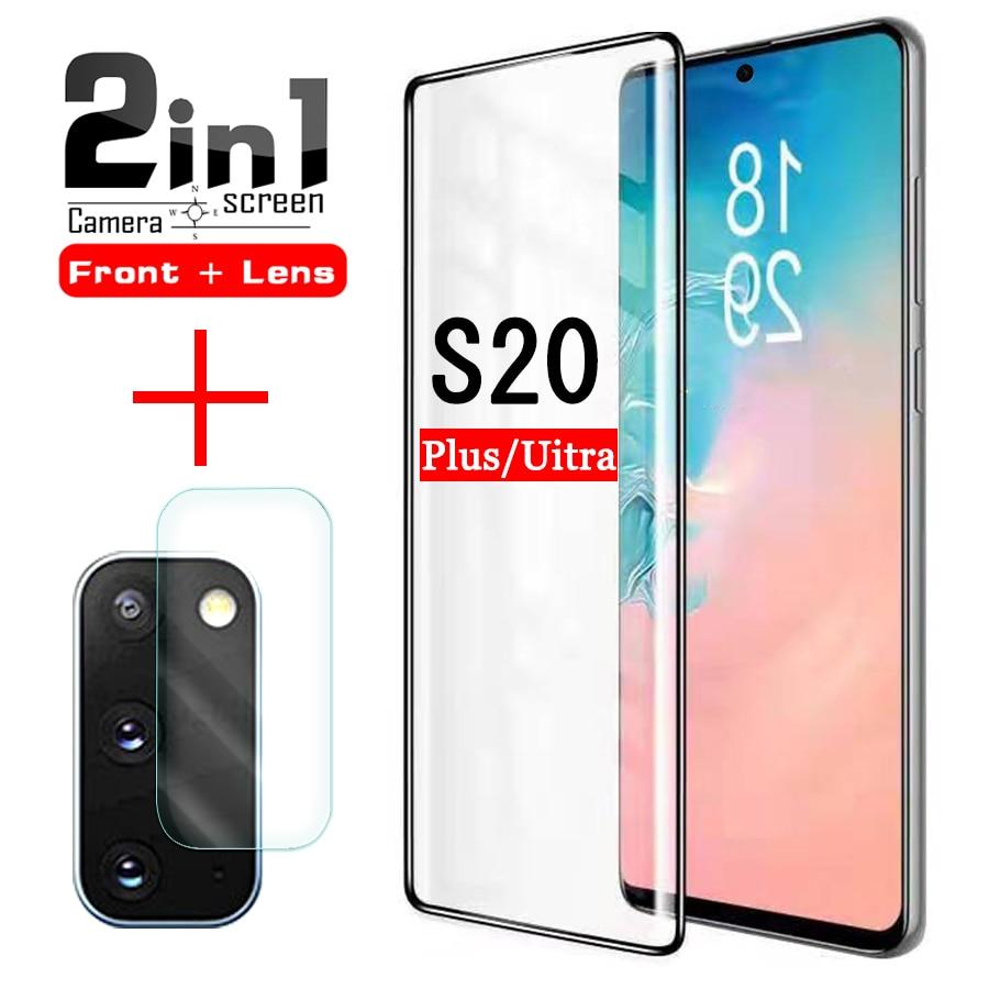 Galaxy S20, cristal protector para samsung glaxay S 20 plus, protector de pantalla ultra S20plus S20ultra, película de vidrio templado 3d