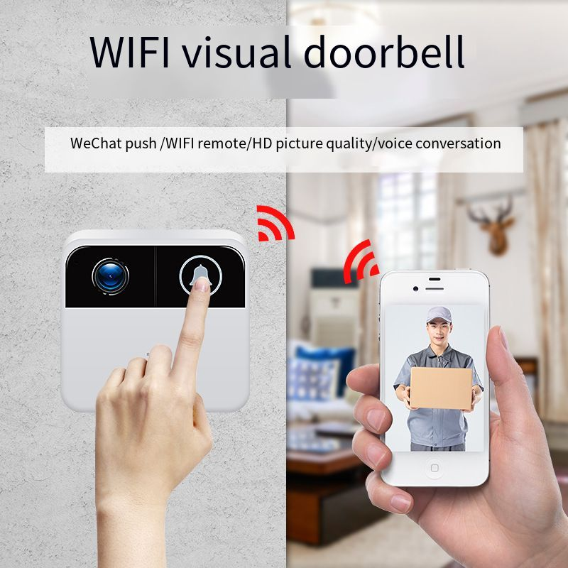 Smart Wifi Doorbell Electronic Peephole Video  Night Vision Door Video Camera Viewer Wireless Intercom Home Alarm Video Doorbell enlarge