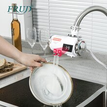Frud Electric Sink Faucets For Kitchen Bathroom Instant Water Heater With Temperature Display R82010