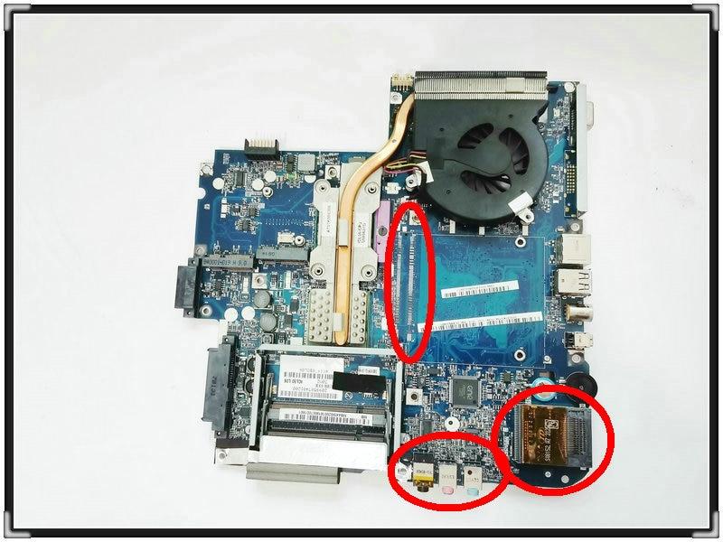Placa base para Acer 5715Z 5315 ICL50 LA-3551P + disipador de calor...