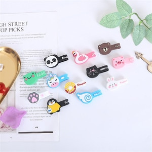 10PCS Cute Household Silicone Winding Fixed Buckle USB Cable Storage Buckle Travel Headset Finishing Cable Holder Paper Clip