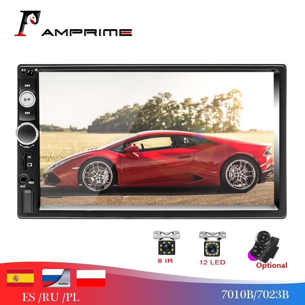 "AMPrime 2 din Car Radio Universal 7"" HD Touch Screen Multimedia Player Bluetooth Car Auioradio MP5 Car Audio With Reverse Camera"
