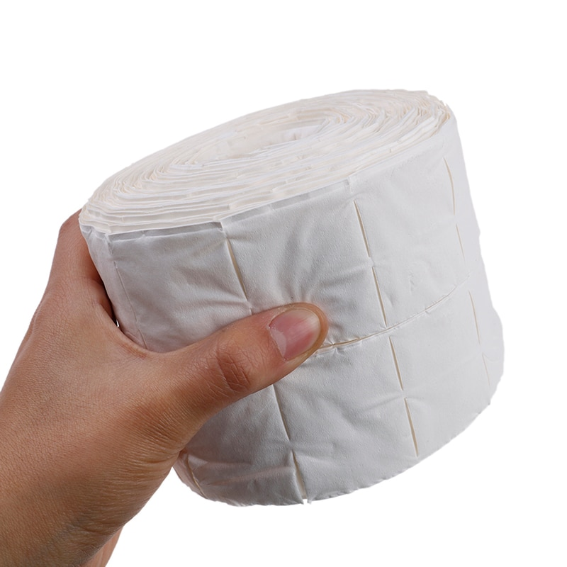 900pcs/roll Nail Cotton Wipes UV Gel Nail Tips Polish Remover Cleaner Lint Paper Pad Soak Nail Art C