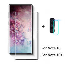 Закаленное стекло 2-в-1 для Samsung Galaxy Note 10 plus, Защитное стекло для объектива камеры Samsung note10 plus note 10 plus, стеклянная пленка