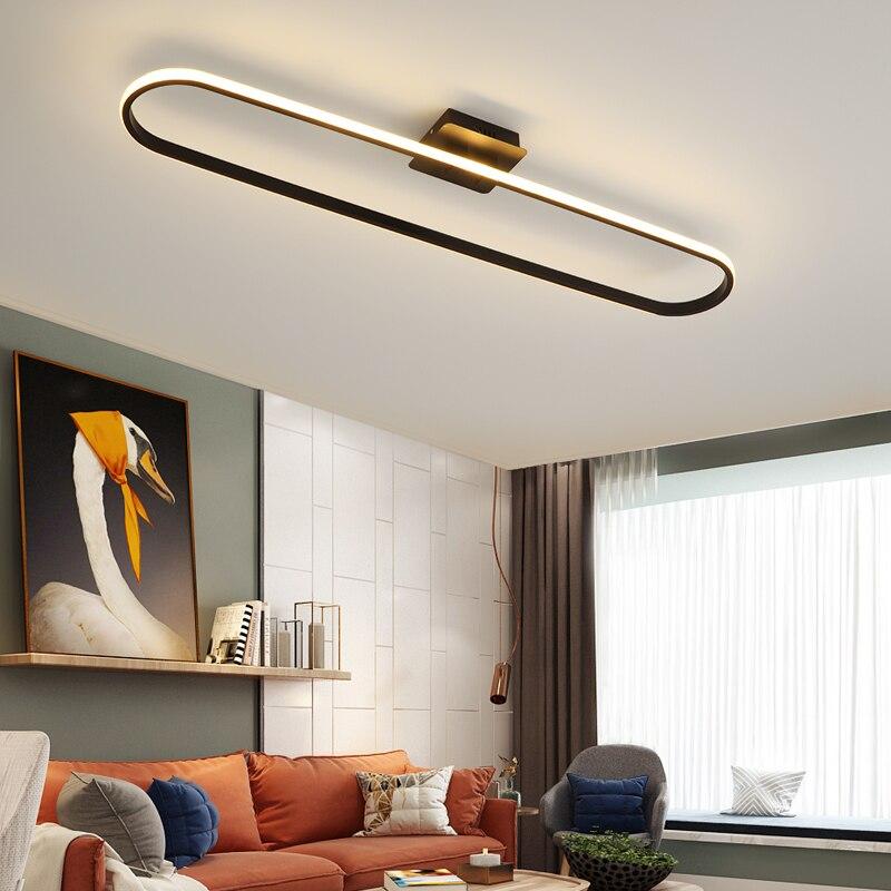 مصباح سقف Led بإطار أسود ، تصميم حديث ، إضاءة داخلية ، إضاءة سقف زخرفية ، مثالية لغرفة المعيشة ، غرفة الطعام ، المطبخ أو غرفة النوم.