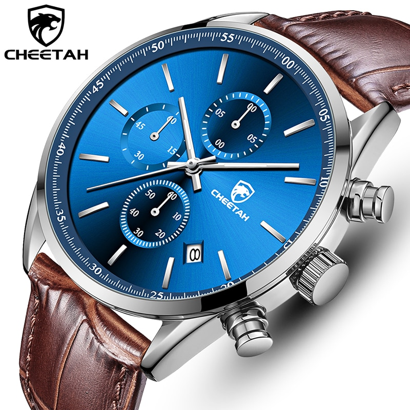 New Watches for Men 2021 CHEETAH Top Luxury Brand Fashion Sports Men's Watch Chronograph Quartz Ma