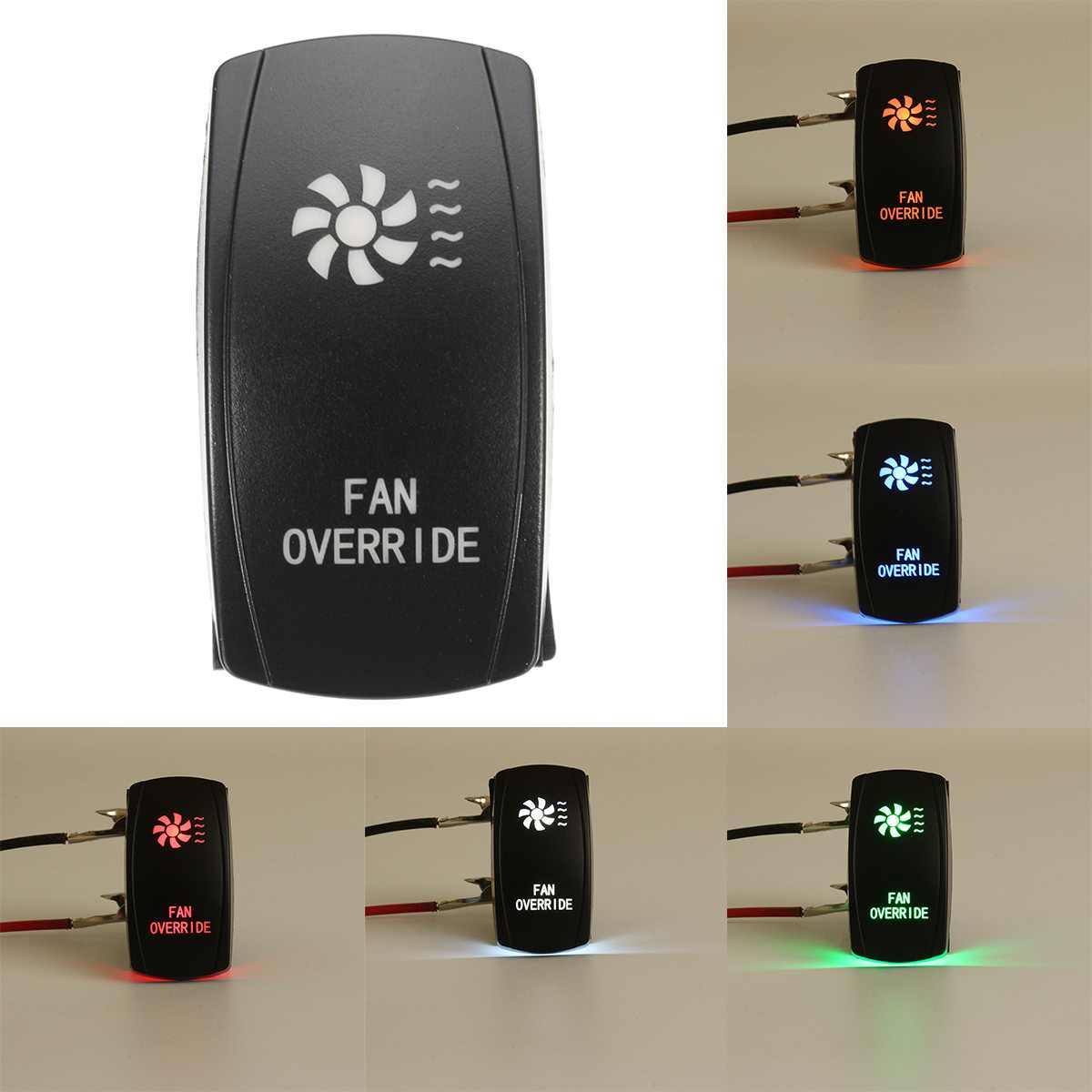 5 Pin ventilador de coche interruptores láser retroiluminado basculante interruptor 20A 12V encendido/apagado luz LED para Polaris Ranger 900 800 RZR