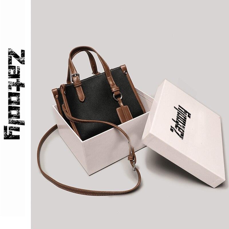 Nuevo estilo, bolso de moda, bolso de sensación avanzada, bolso de mano de Color puro, bolso con diseño oblicuo francés de moda, ambiente sencillo