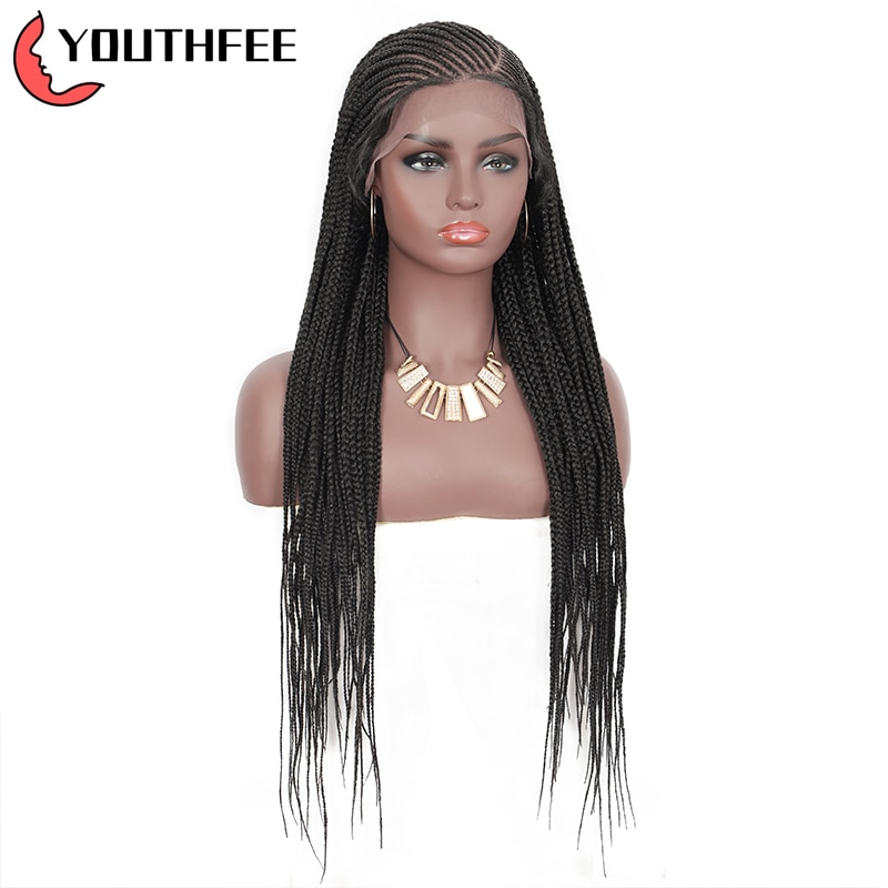 Youthfee 13x6 Lace Front Synthetic Wigs with Baby Hair 31