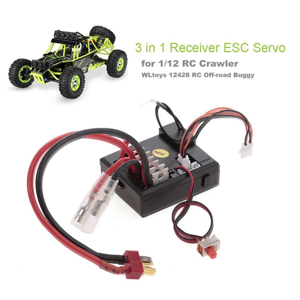 3 in 1 Receiver ESC Servo for 1/12 WLtoys 12428 RC Crawler Off-road Buggy Car