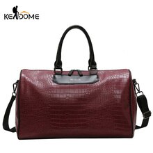Women Fitness Gym Bag Alligator PU Leather Male Training Handbags Lady Travel Weekend Luggage Large Capacity Sac De Sport XA75D