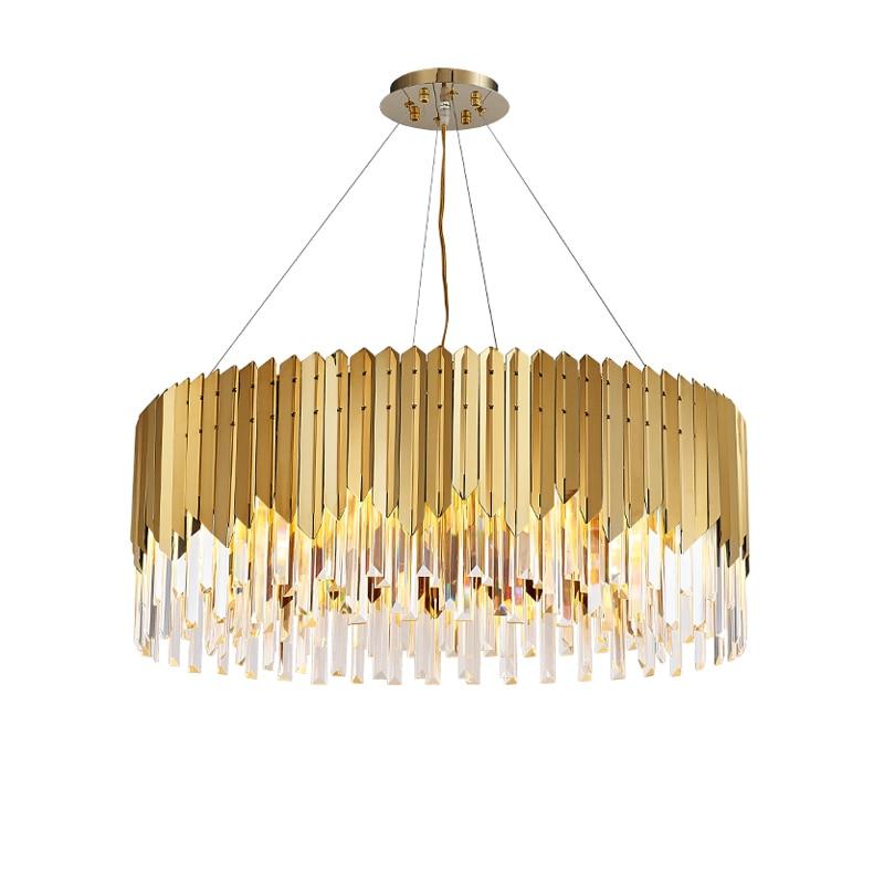 الذهب والفضة الكريستال مصابيح LED مستديرة بريق معلقة مصابيح قلادة الأنوار. قلادة ضوء تعليق الإنارة Lampen ل بهو