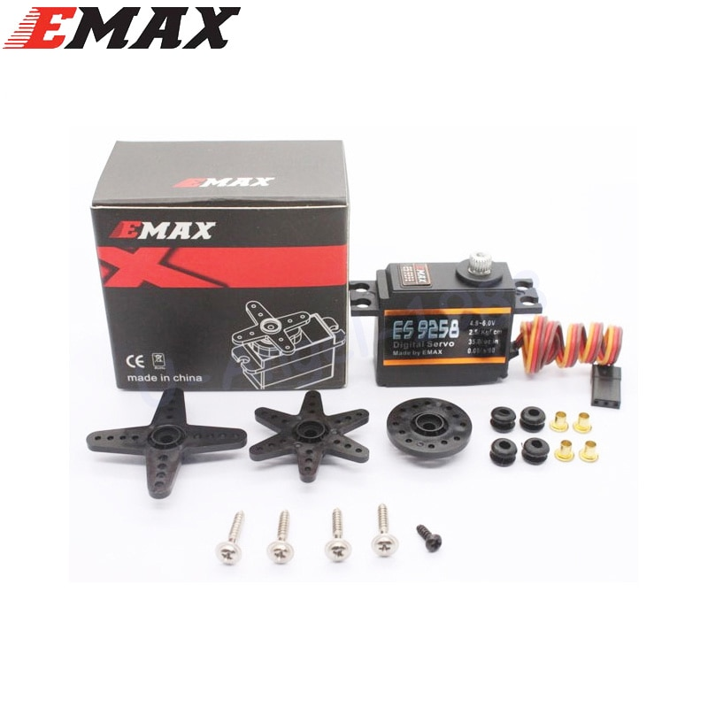 Emax es9258 metal engrenagem servo digital 27g/ 2.5 kg/ 0.05 segundo para rc helicóptero atacado dropship
