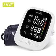 HHE LED Display Arm Blood Pressure Monitor Tonometer Pulse Heart Rate Tensiometer Automatic Digital Sphygmomanometer BP Monitor