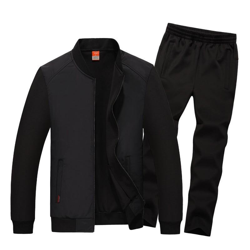 Men Tracksuit New Fashion Sportswear Set Spring Autumn Track Suits Jacket+Pants Male Sweatsuit Casual Clothes Big Size 7XL 8XL