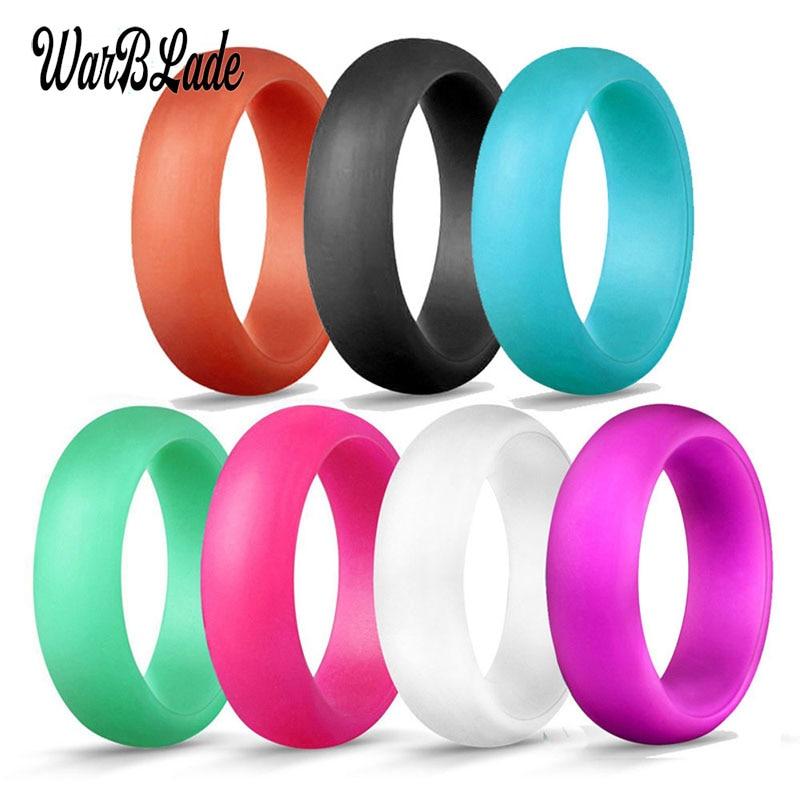 Anneau en Silicone souple hypoallergénique pour femmes, anneau de doigt, de qualité alimentaire FDA, cadeau de mariage, taille 4-10, 7 pièces, 5.7mm