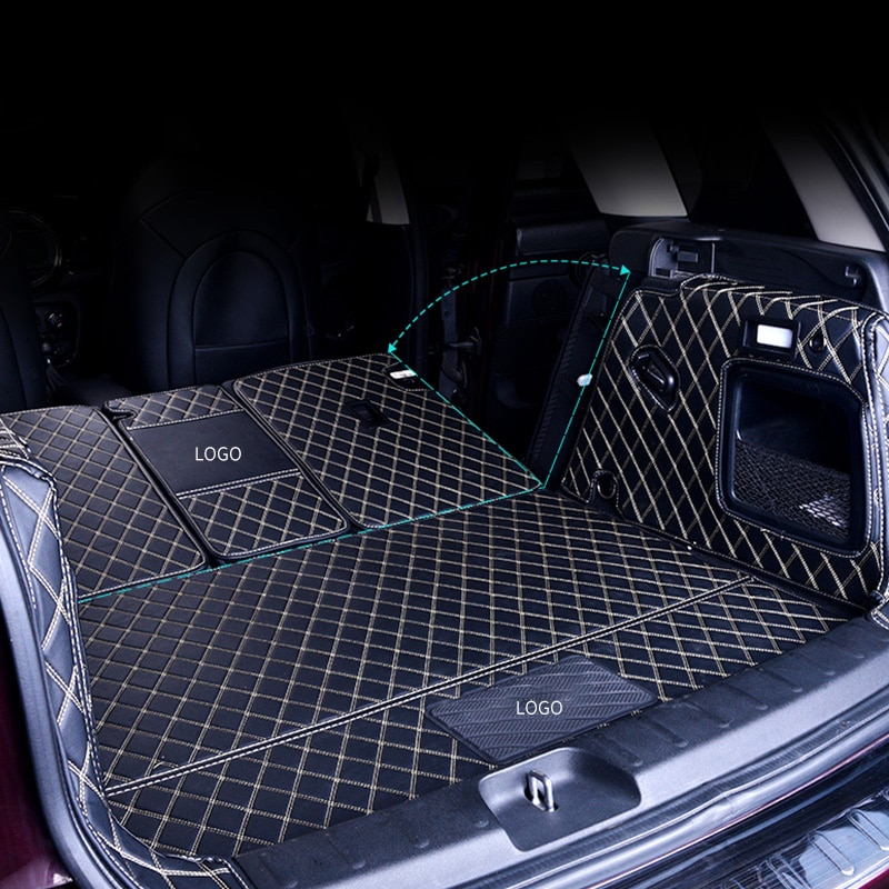 Car Trunk Boot Mat For BMW MINI ONE Cooper R56 R55 F54 F55 F56F60 R60  Leather Pad COUNTRYMAN CLUBMAN HATCHBACK Auto Accessories enlarge