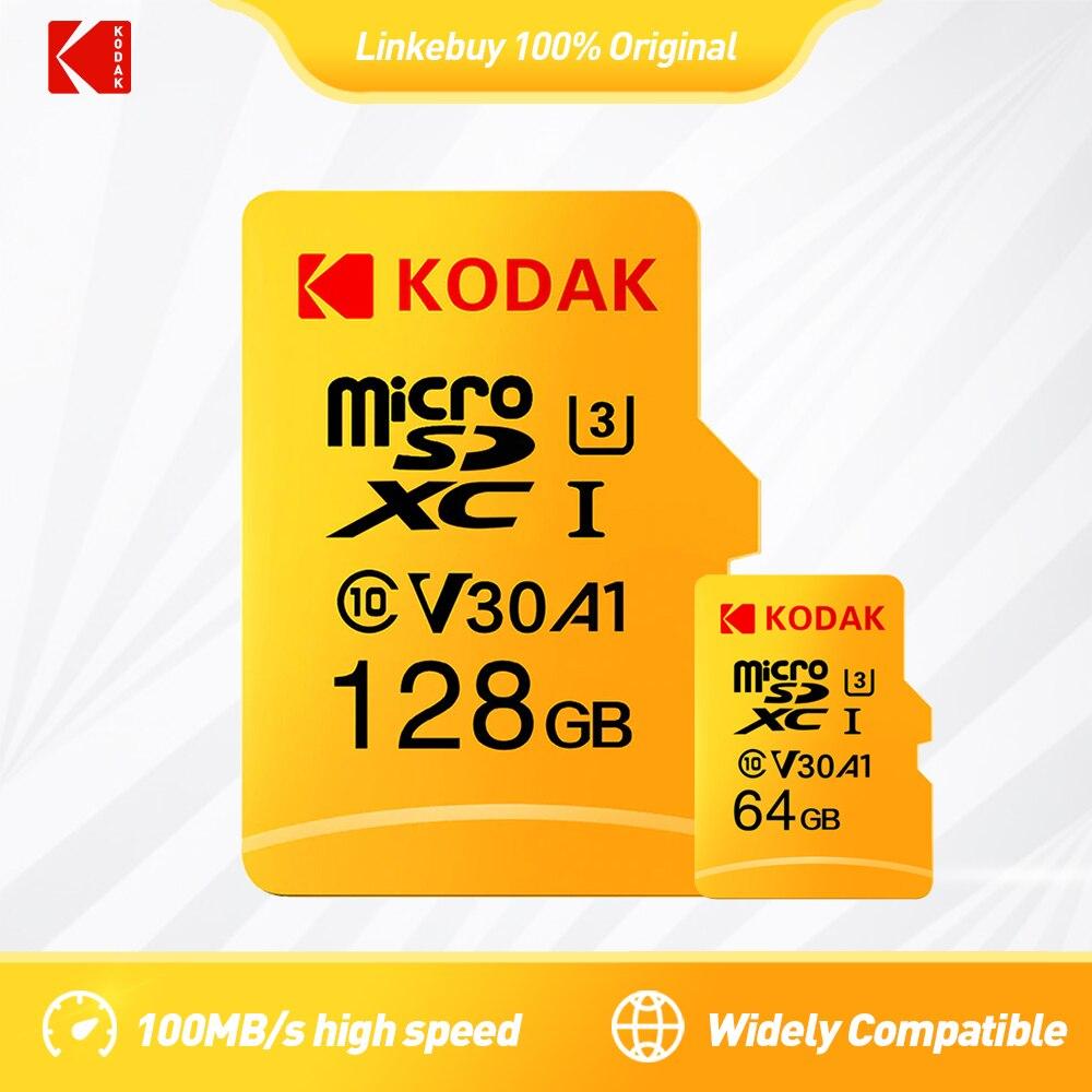 KODAK Micro SD TF 128 go 256 go 512 go 100 mo/s mémoire Flash 32 go 64 go U1 4K classe 10 U3 16 go carte microsd au téléphone livraison gratuite