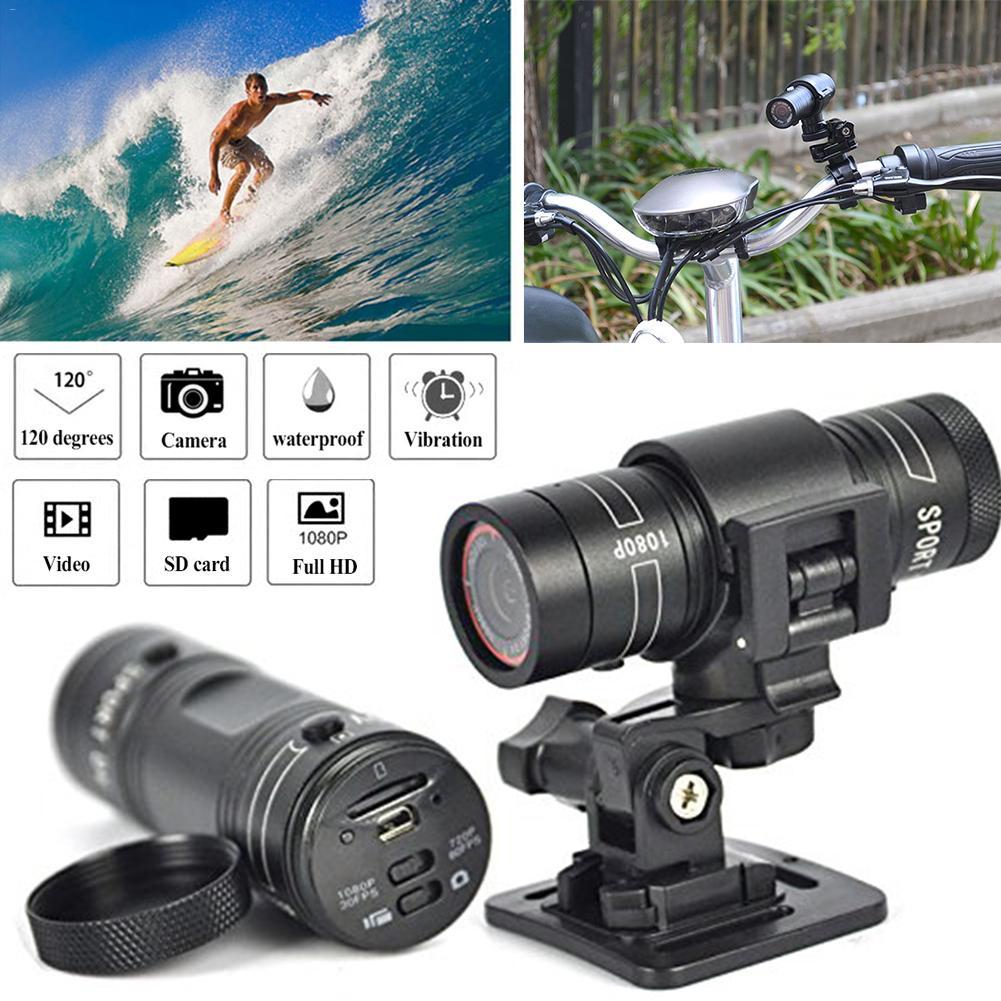 New 2019 Hot Mini F9 HD Sports Camera Bike Motorcycle Helmet Sports Action Camera Video DV Full HD 1080p Sports Camera