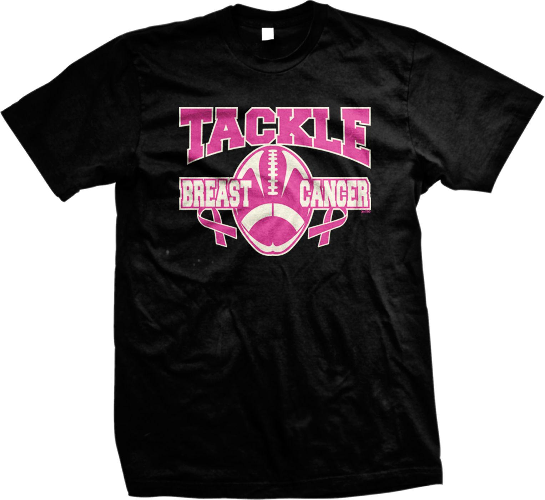 Tackle Breast Cancer Football Pink Inspiration Motivation Mens T-shirt  Cool Casual pride t shirt men Unisex Fashion tshirt
