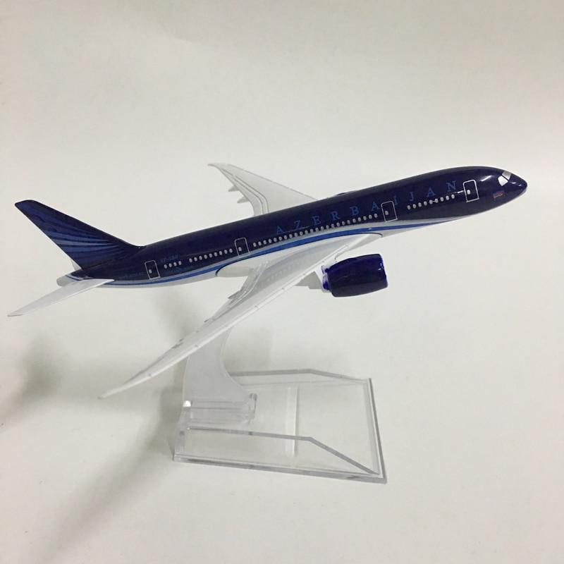 JASON TUTU 16cm Plane Model Airplane Model Azerbaijan Boeing 787 Aircraft Model Diecast Metal Airplanes 1:400 Plane Toy Gift