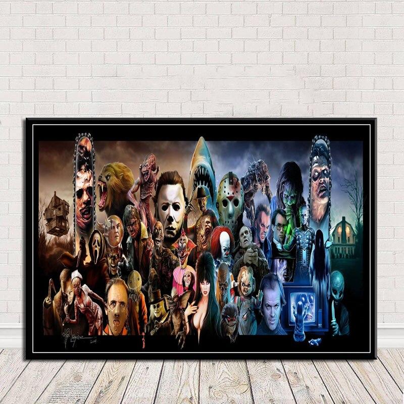 Poster wand kunst halloween stern horror film bild druck leinwand vorlage block malerei wohnzimmer dekoration rahmen