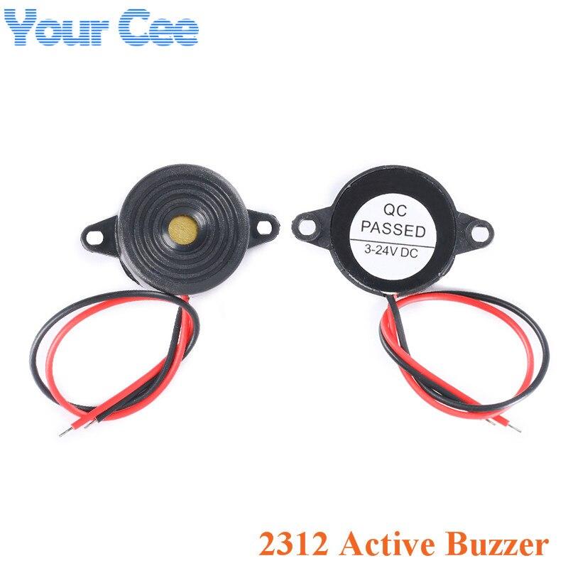 Alarma de zumbador activa de alto decibelio de SFM-20B DC3-24V de sonido continuo 2312 piezoeléctrico para Arduino