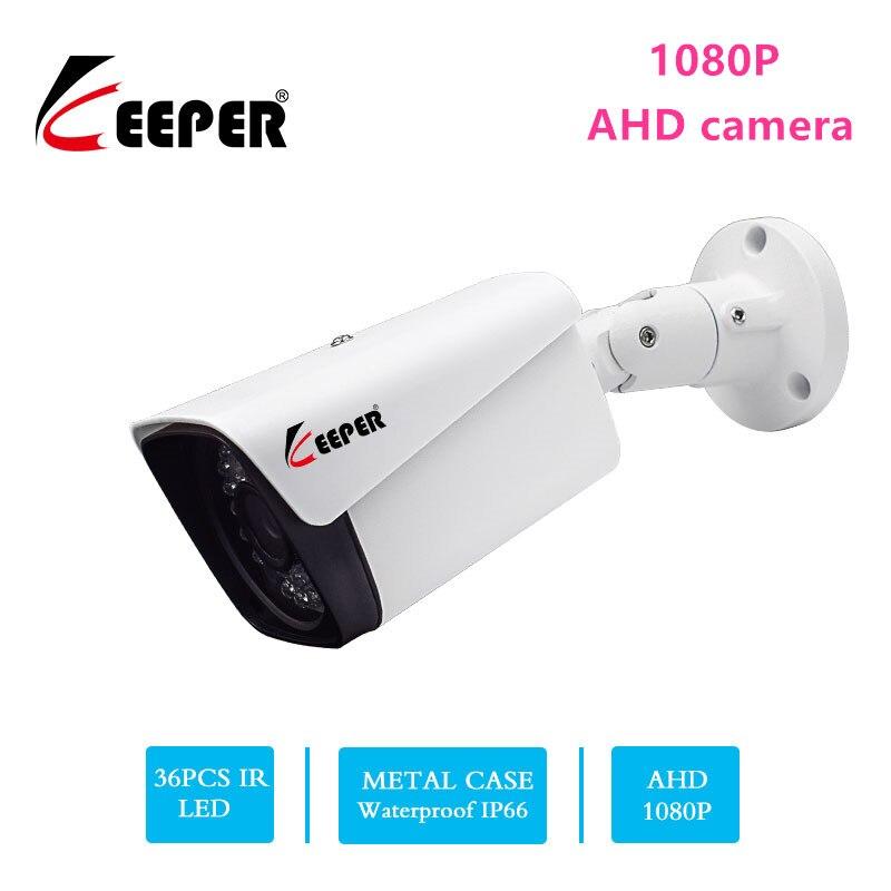 كاميرا مراقبة خارجية عالية الدقة 1080 بكسل 2 ميجابكسل AHD ، مجموعة مقاومة للماء مع رؤية ليلية بالأشعة تحت الحمراء ، رصاصة معدنية ، CCTV تناظرية